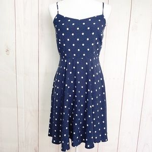 Old Navy NWT Blue and White Polka Dot Sun Dress